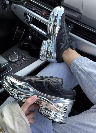 Эксклюзивные женские кроссовки adidas x raf simons ozweego bla...