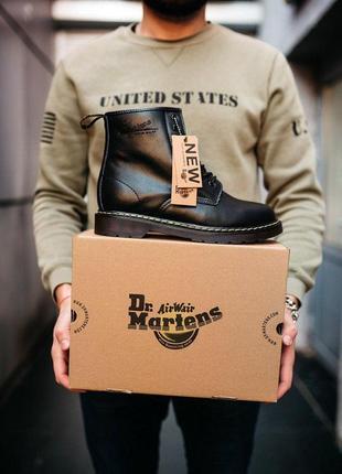 Шикарные кожаные ботинки/ сапоги dr. martens classic 1460 black