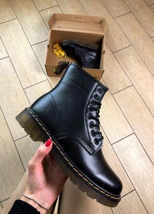 Кожаные женские ботинки/ сапоги/ уги dr. martens classic 1460 ...