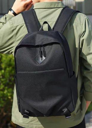 Мужской городской спортивный рюкзак черный в дорогу