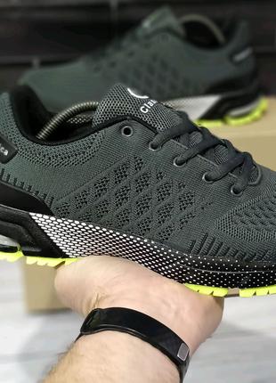 Кроссовки мужские серые  текстильные аналог Adidas Marathon