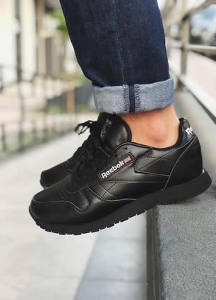 Шикарные мужские кроссовки reebok classic black 😍 (осень/ евро...