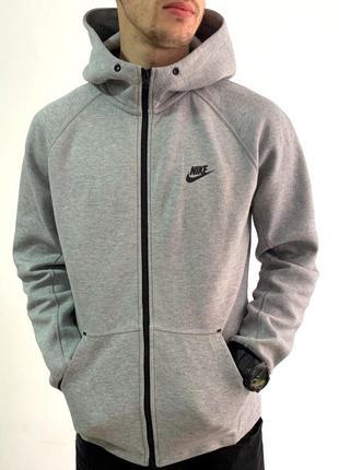 Шикарная мужская олимпийка nike tech fleece grey  (кофта/толст...