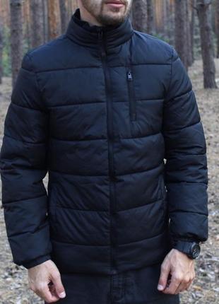 Шикарная мужская куртка/ пуховик f&f чёрного цвета😍{осень/ зима}