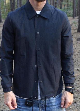 Уникальная мужская куртка/ бомбер на заклёпках river island 😍