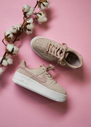 Шикарные женские кроссовки nike air force 1 pink sage 😍 (весна...