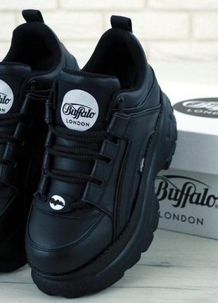 Женские кожаные кроссовки buffalo london black на платформе 😍 ...