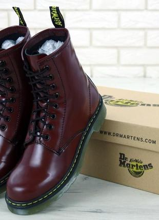 Женские осенние ботинки на платформе dr. martens 1460 bordo 😍 ...