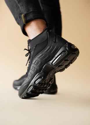 "Шикарные мужские кроссовки nike air max 95 sneakerboot ""black""..."