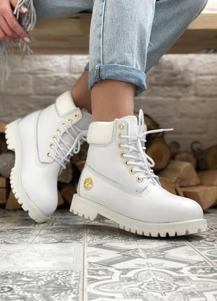 Шикарные женские зимние ботинки timberland 6 inch premium whit...