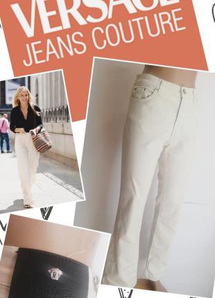 Штани. штаны молочного цвета. versace