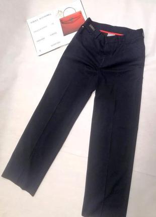 Брюки штаны versace оригинал темно синие с карманами versace