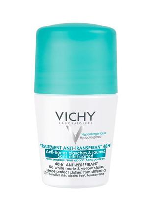 "Vichy anti-transpirant 48h  дезодорант-антиперспирант ""без бел..."