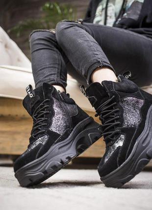 Шикарные женские осенние ботиночки/ сапоги на платформе 😍 (дем...