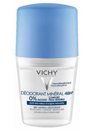 Vichy 48h mineral deodorant roll-on минеральный дезодорант виш...