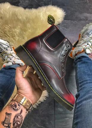 Шикарные кожаные мужские ботинки/ сапоги dr. martens gusset re...