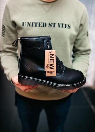 Кожаные ботинки/ сапоги/ угги dr. martens classic 1460 black f...