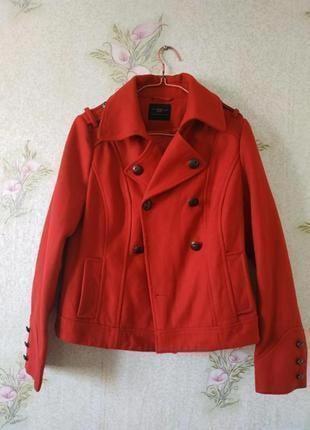 Актуальное пальто new look 52% шерсть