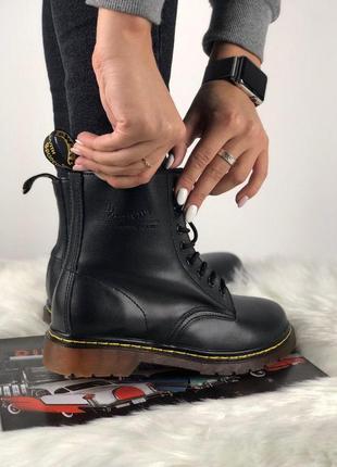 Шикарные кожаные ботинки/ сапоги dr. martens classic 1460 blac...