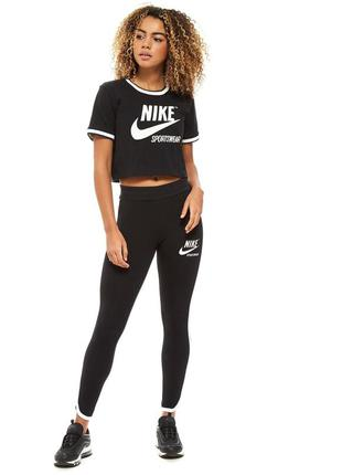 Стильная укороченная футболка, топ nike sportswear , оригинал
