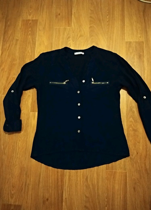 Рубашка женская темно-синего цвета