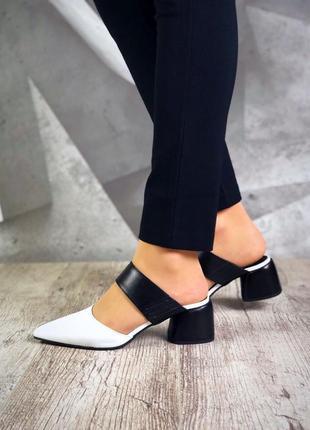 ❤невероятные женские стильные туфли  с открытой пяткой .  ❤