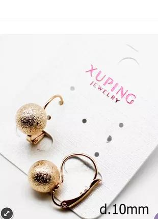 Ювелирная бижутерия Xuping, серьги, медицинское золото