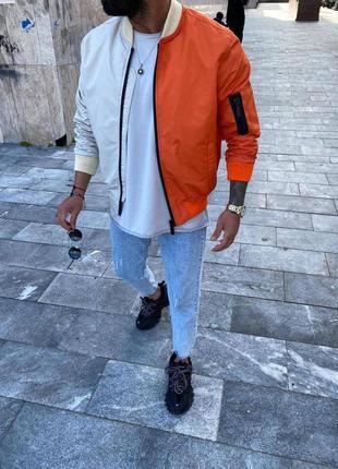 Стильный бомбер мужская одежда осень весна куртка мужской