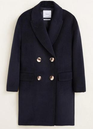 Шерстяное пальто на пуговицах mango / s