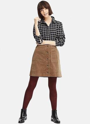 Вельветовая юбка uniqlo