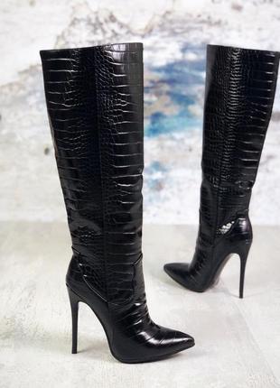 ❤невероятные женские стильные сапоги на шпильке  ❤