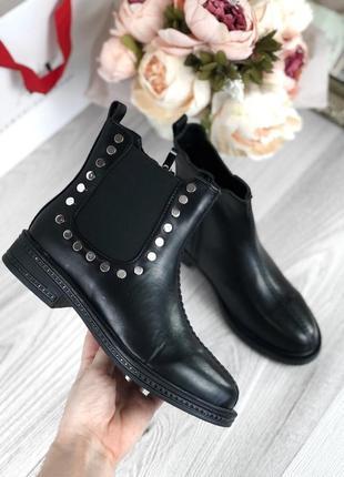 ❤невероятные женские стильные черные низкие ботинки челси❤