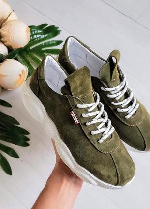 ❤женские стильные  замшевые летние весенние осенние кроссовки ...