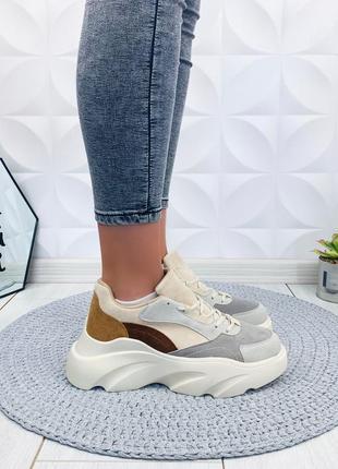 ❤невероятные женские стильные кроссовки  на платформе ❤