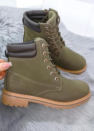❤невероятные женские стильные хаки демисезонные осенние ботинк...