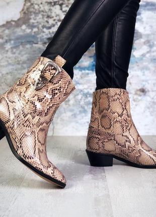 ❤невероятные женские  кожаные демисезонные осенние ботинки бот...
