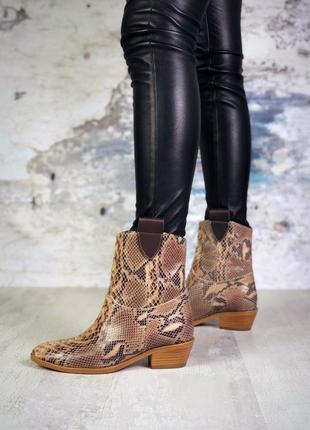 ❤невероятные женские кожаные демисезонные осенние ботинки боти...