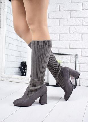 ❤ женские черные демисезонные осенние сапоги сапожки ботинки ❤