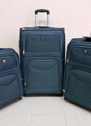 Чемодан wings ,текстильный чемодан,на 2 колеса,польский бренд
