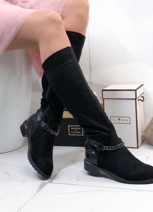 ❤невероятные женские черные демисезонные осенние  ботинки сапо...