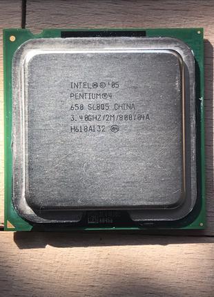 Процессор Intel Pentium 4 HT (2 Потоки по 3.4Ghz) socket 775