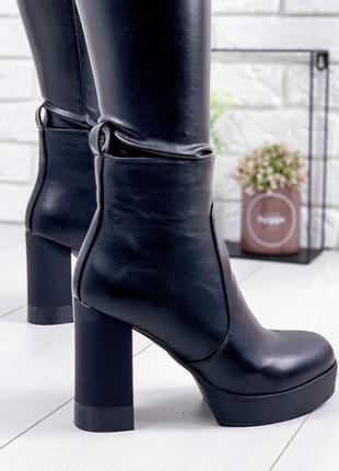 ❤женские черные демисезонные осенние ботинки сапоги ботильоны ...