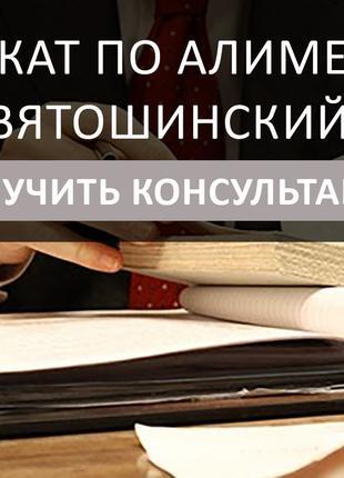 Адвокат по алиментам Киев Святошинский район, сейчас на связи