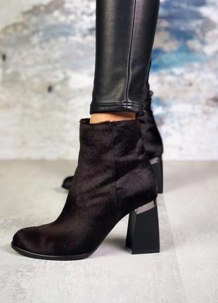 ❤ женские черные демисезонные осенние  кожаные ботинки сапоги ...