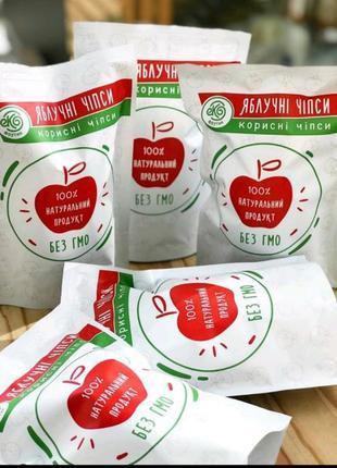 Чипсы яблочные без сахара