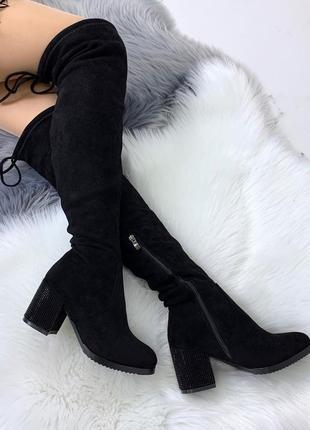 ❤невероятные женские черные зимние сапоги ботфорты валенки на ...
