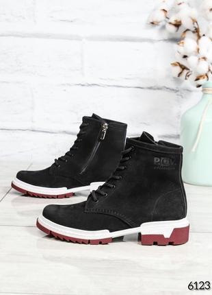 ❤ женские черные демисезонные осенние ботинки сапоги валенки н...