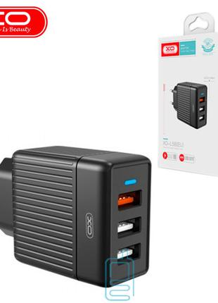 Сетевое зарядное устройство XO L58 QC3.0 3USB 18W black