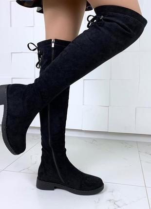 ❤ женские черные зимние ботинки сапоги  ботфорты ботильоны на ...