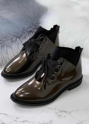 ❤ женские бронзовые демисезонные осенние ботинки сапоги ботиль...